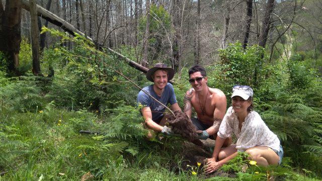 Ed van Reenen planting trees with Greenpop in South Africa
