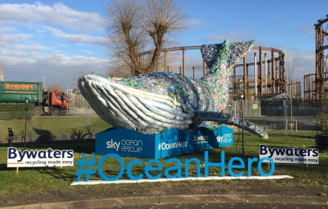 Plasticus the Plastic Whale Returns to Bywaters
