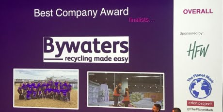 Bywaters Highly Commended at 2019 Planet Mark Awards 1