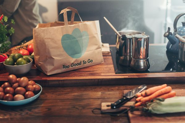 Too Good To Go Delivery Bag in a Kitchen